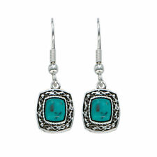 Montana Silversmiths Blue Earth Turquoise Drop Earrings ER1263
