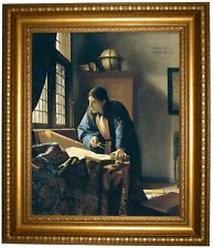 Vermeer The Geographer Framed Canvas Print Repro 16x20