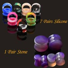 Ear Stretcher Gauges Expander Ear Plugs Tunnel Silicone Stone Earring 8pair/lot