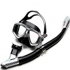 Professional Adults Snorkeling Diving Goggles Scuba Mask and Dry Snorkel Set
