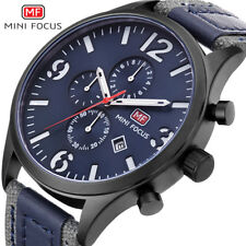 Mini focus Men Watch Quartz Sports Watches Male Nylon Strap Military Wrist Watch