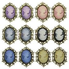 MagiDeal 12pcs Vintage Cameo Crystal Wedding Party Women Brooch Pin Jewelry