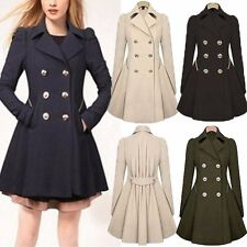 Winter Fashion Womens Lapel Stylish Long Parka Coat Trench Ladies Outwear Jacket