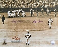 RALPH BRANCA/ BOBBY THOMSON authentic autographed signed  11x14 photo