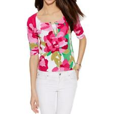 INC 5509 Womens Printed Button Front 3/4 Sleeves Cardigan Sweater Top BHFO
