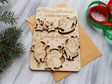"""Merry Christmas Cards 9x6"""" Personalized Christmas Gift Wooden Christmas Ornament"""
