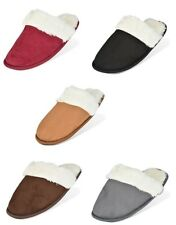 P26 Womens Faux Fur MicroSuede Scuff Slippers Shoes