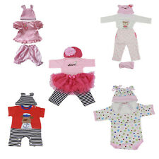 """Reborn baby Clothing Doll Fit Suit 17"""" 18"""" 20"""" 22"""" newborn bebe kids Clothes"""