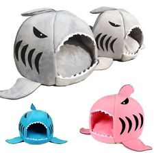 Cat Cave Bed Small Dog House Indoor Shark Shape Soft Kennel Puppy Inside Cushion