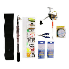 Telescopic Fishing Rod and Reel Set Carp Sea Fishing Lure Tackle with Box