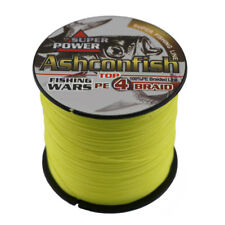 Hot 500M PE Sea Fishing Line Dyneema Spectra Braided 6-100LB 4 Strands Yellow