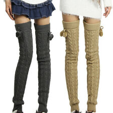 Winter Crochet Knitted Stocking Footless Leg Warmers Thigh High Socks Convenient