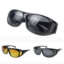 Solar Eclipse Glasses,Unisex HD Night Vision Driving Over Wrap Around Sunglasses