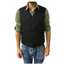 MANIFATTURA CECCARELLI vest man's black mod 7910 100% cotton MADE IN ITALY