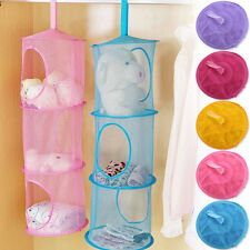 Kids 3 Tier Compartment Net Hanging Storage Toy Bedroom Bathroom Organizer