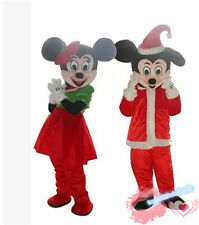 Mickey and Minnie Mouse Mascot Costume Birthday Party game Xmas Dress Adults new