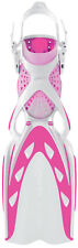 Mares X-Stream Open Heel Scuba Diving Dive Fins - Pink/White - All Sizes