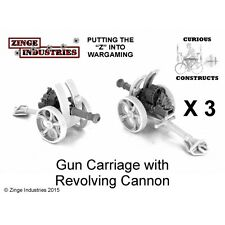 Zinge Industries Steampunk Gun Carriages x3 and guns x3 Field Battery S-ART04 B
