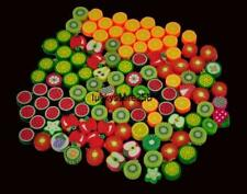 100 x Wholesale Mixed Color FIMO Polymer Clay Fruits Charm Spacer Beads US