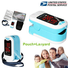 LED Fingertip oximeter SPO2 Pulse Rate Monitor,Pulse Oximeter+Pouch+Rope,US 2017