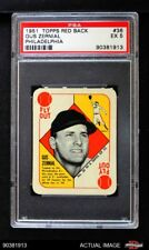 1951 Topps Red Back #36 Gus Zernial -  Philadelphia in Bio Athletics PSA 5 - EX