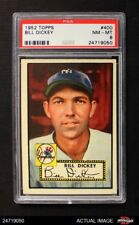 1952 Topps #400 Bill Dickey Yankees PSA 8 - NM/MT