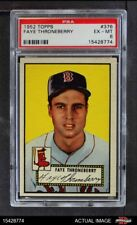 1952 Topps #376 Faye Throneberry Red Sox PSA 6 - EX/MT
