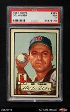 1952 Topps #383 Del Wilber Red Sox PSA 7 - NM