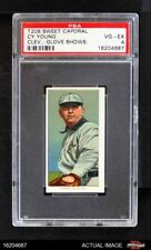 1909 T206 Cy Young Cleveland Glove Shows Naps (Indians) PSA 4 - VG/EX