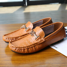 Leather Comfy Non-Slip Oxfords US10 US12 US13 Loafer  Moccasins Driving Shoes BE