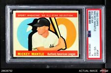 1960 Topps #563 Mickey Mantle - All-Star Yankees PSA 4 - VG/EX