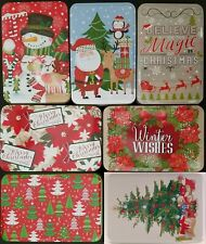 Christmas Holiday Cookie Tins Nesting Metal Gift Boxes, Select: Design