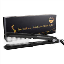 Professional 450F Ceramic Vapor Steam Hair Straightener Flat Iron Fast Heating