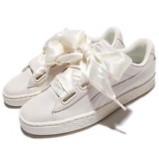 Puma Basket Heart NS Wns Bows White Ivory Leather Women Shoes Trainers 364108-02