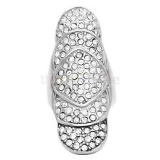 Magideal Luxury Fashion Finger Ring Full Crystal Rhinestone Party Size 6-9