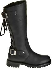 """Harley-Davidson® Womens 12.5"""" Alexa Motorcycle Riding Black Leather Boots D85167"""