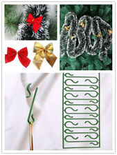Christmas Bowknot Tinsels Ornaments Festival Party Xmas Tree Hanging Decorations