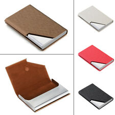 PU & Stainless Steel Business Name Card ID Credit Card Holder Case Box 5Color