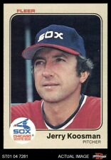 1983 Fleer #242 Jerry Koosman -  White Sox NM/MT