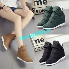 Womens Wedge Heel High Top Athletic Shoes Sneakers Sport Ankle Boots Casual Warm