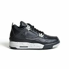 AIR JORDAN 4 RETRO BG OREO 2015 BLACK TECH GREY GS YOUTH BASKETBALL 408452-003