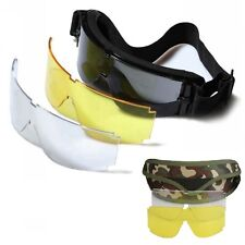 Tactical Sun Glasses Kit Strap Goggles Shooting Sport Eye Safety Vision 3 Lens