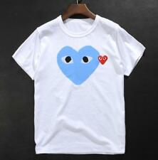 Women's T-shirts Comme Des Garcons CDG Play Colorful Red Heart Cotton  Men'sTee