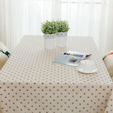 Rectangle Table Cover Cotton Linen Tablecloth Table Cloth Dinning Home Decor New