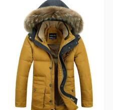 Mens Winter Parka Jacket Warm hooded Outwear Coat thicken Duck Down Slim FitCoat