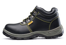 Mens Leather Safety Shoes Steel Toe Work Shoes Welding Boots