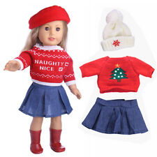 1Set Sweater + Skirt + Hat Doll Clothes For Baby Born Zapf or American Girl Doll