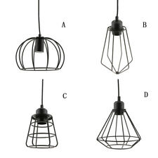 Ceiling Light Cage Bulb Cage Pendant Light Shade Loft Retro Lamp Shade Black