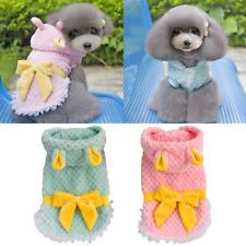 Dog Sweater Clothes Pet Puppy Cat Warm Jumper Hoodie Outfit Coat Apparel 2 Color