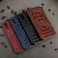 For iPhone X /8/7/6s/6 plus Crocodile Embossed Genuine Leather Cowhide Back Case